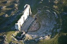 Vista aérea del teatro